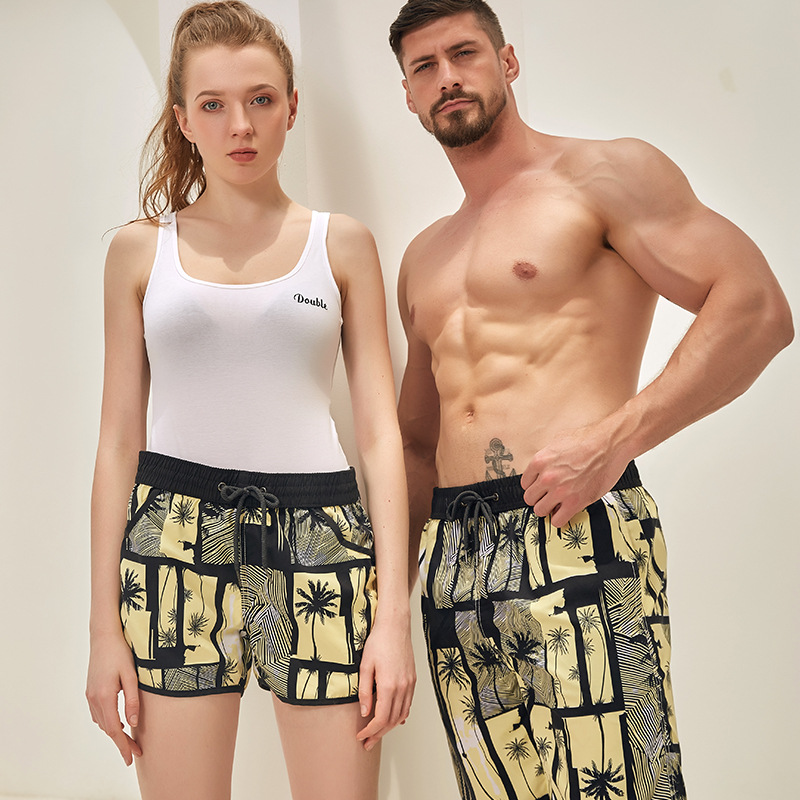 Print Boardshorts Quick Dry Summer Men women Siwmwear Beach   Board     Shorts   Briefs For male female Swim Trunks   Shorts   Beach Wear