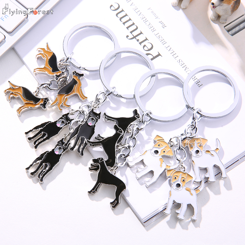 Keychain Jack Russell Terrier Dog Key Chain Key Ring Gift For Women Girl Bag Pendant 2019 Charm Keychain Fashion Animal Jewelry