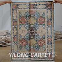 Yilong 3'x4' Antique oriental dark blue tree of life carpet exquisite discount persian rugs (1516)