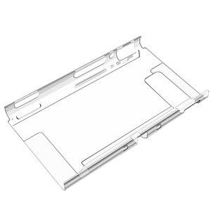 Image 3 - Dla Nintendo Switch przezroczysta kryształowa pokrywa Ultra cienka, odporna na wstrząsy konsola ochronna Coque odpinane twarde ochronne z poliwęglanu