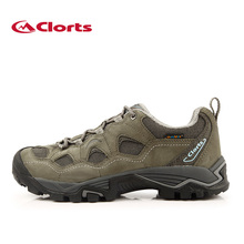 2016 Clorts Hiking Shoes HKL-810A Men Nubuck Leather Outdoor Shoes Waterproof Breathable Hiking Boots Trekking Shoes