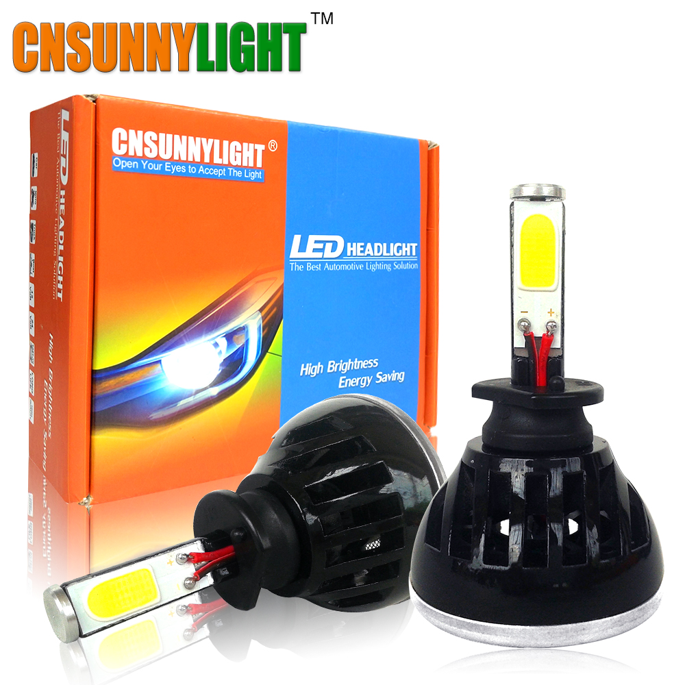LED Car Headlight Bulbs H1 H3 880 H27 12V 24V 8000LM Super Bright Replacement Auto Lights Conversion Kit White 6000K 4300K  novsight dual color 40w 8000lm set 9005 hb3 led car lights kit auto replacement headlight bulbs 6500k white