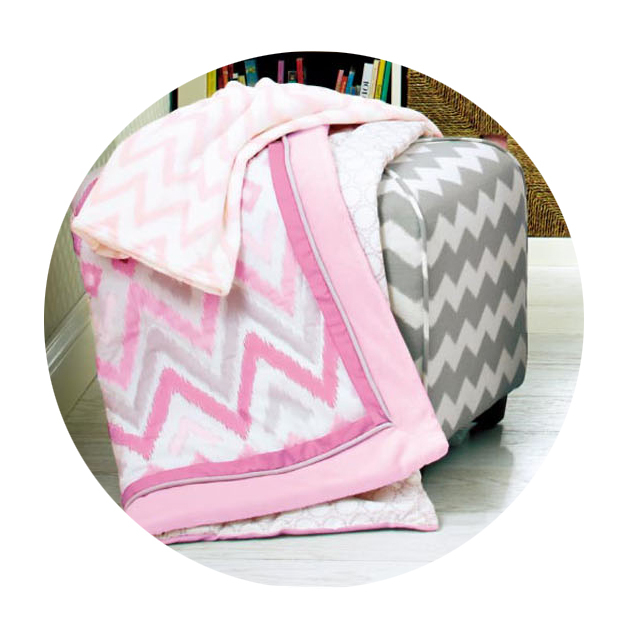 8 Pc Crib Infant Room Kids Baby Bedroom Set Nursery Bedding Pink broken line cot bedding set for newborn baby girls
