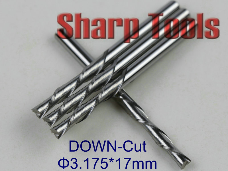 5pcs 3.175*2.0*12 AA Series One Flute Engraving Tool Bits//Spiral Drill Bits//End Milling Cutter//Tungsten Cutting Tools