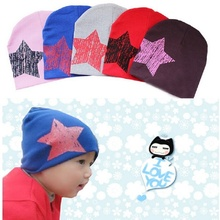 Baby Hat Kids Caps 2017 Autumn Winter Baby Boys Hat One Star Print Infant Children Hats Toddler Costume Baby Beanies Accessories