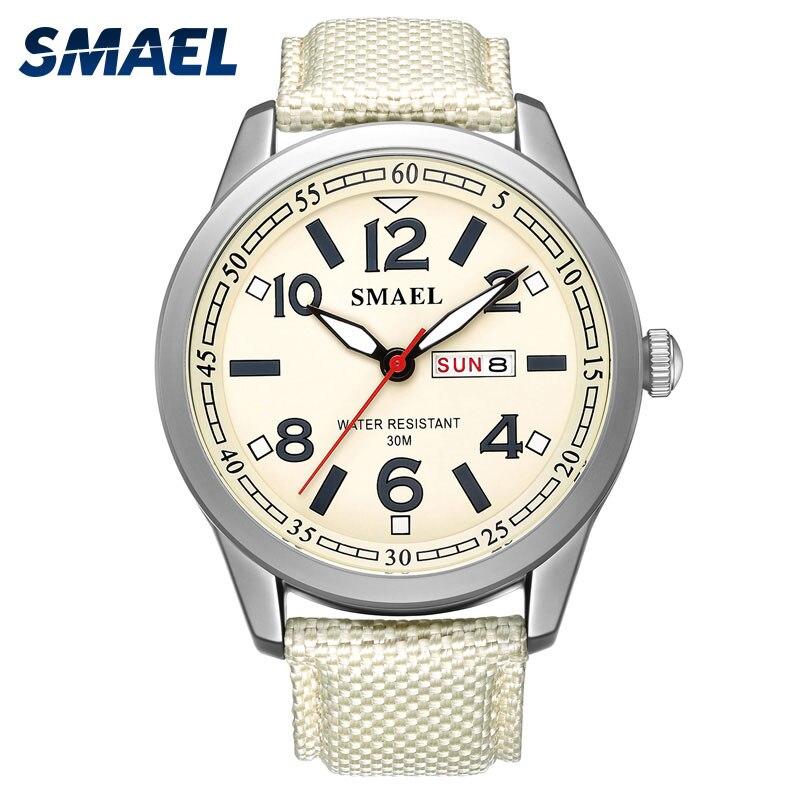 SMAEL Quartz Montre Hommes Casual Style Sport Montres Hommes Armée Militaire Étanche Montres Garçons Horloge Boîte D'origine saat erkek