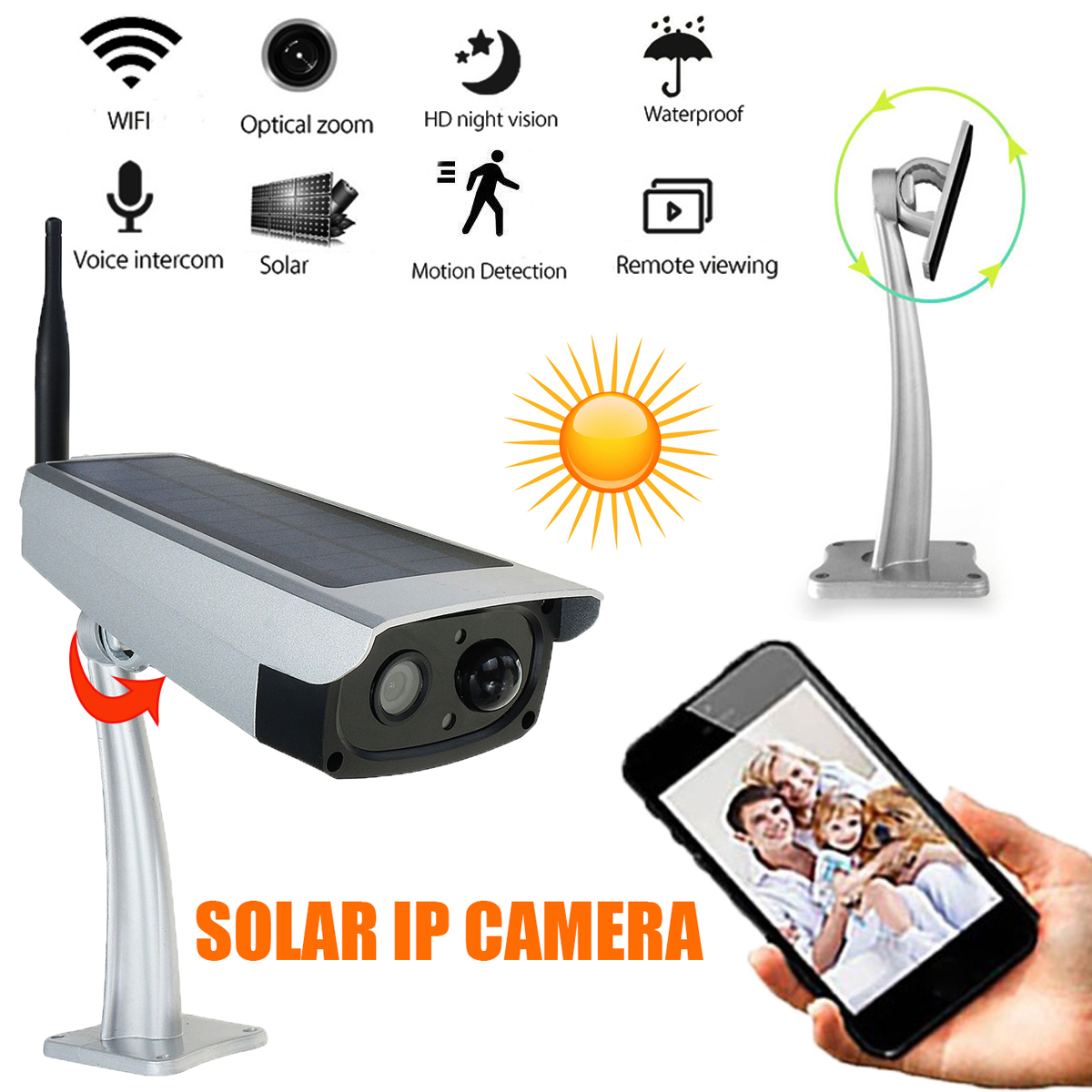 IP66 Waterproof Outdoor Security Solar Camera IP WIFI ...
