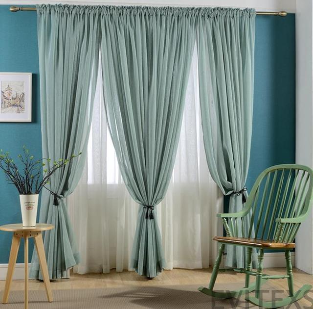 Nueva caliente venta cortinas acabadas para windows gasa - Cortinas de gasa ...