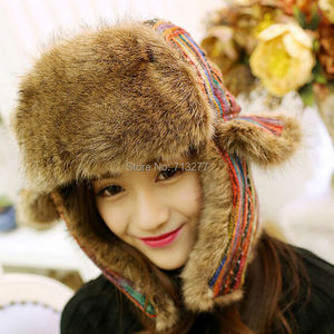 Image 4 - 2017 Winter Warm Trapper Hat Earflap Earmuffs Caps Winter Women Aviator Hat Thicken Ear Protection Bomber Hat Colored Bomber