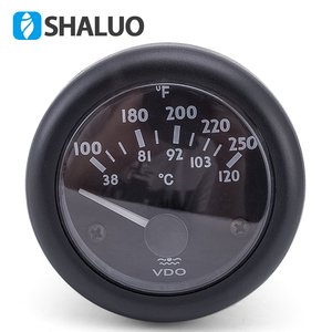 Image 2 - 12 V VDO טמפרטורת מים מד 38 ~ 120C/100 ~ 250F 12 V/24 V אופציונלי
