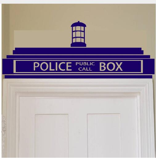 Police Box Wall Sticker Decor Design Kids Transfer Art Painting Wall Stickers Vinyl Decor Decals