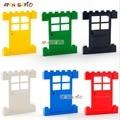 DIY Blöcke Gebäude Ziegel Türen und Windows 3PCS Bildungs Assemblage Bau Spielzeug für Kinder Kompatibel Mit Marken