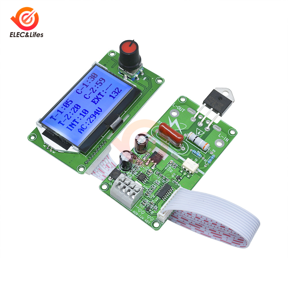 LCD Digital Pulse Encoder Spot Welder Controller Module 100A 40A For 18650 Lithium Battery / Battery Group Spot Welding Machine