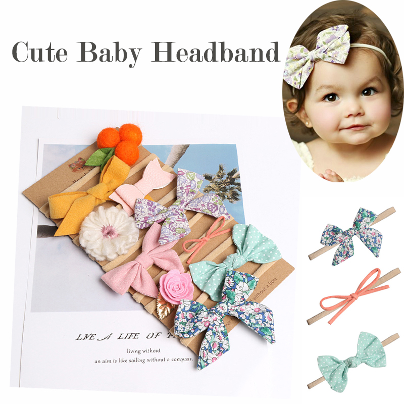 32cm Newborn Baby Girls Headband Boneless Elastic Hair Band For Kids Princesses Turban Headwear Cute Clothing Accessories New