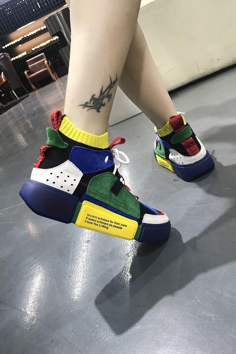 Lumière Femmes as forme Fond Show En De Appartements Occasionnels Chaussures Show Printemps Et Plate Automne Cuir Mujer Oxford Mode Bande Zapatillas As Dentelle xXqzw6A