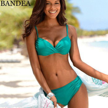 BANDEA 2018 Bikini Sexy Push Up Swimsuit Solid Color Bikinis Women Plus Size Swimwear Female Beach Bathing Suit Biquinis XXXL Купальник