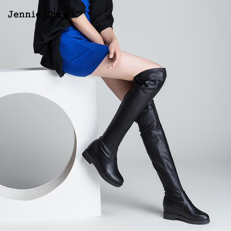 93c9caa378800 Over The Knee Boots Thigh High Boots For Women Over Knee High Heel Boots  Long Flats-in Over-the-Knee Boots from Shoes on Aliexpress.com