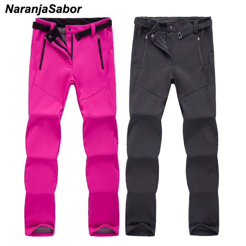 NaranjaSabor Winter Autumn Women's Pants Warm Inner Fleece Casual Thermal Waterproof Thick Female Trousers Women Brand Clothing