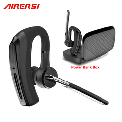 New BH820 Bluetooth Earphone stereo Handsfree Wireless Headphones smart Car call Business Bluetooth Headset with Power Bank Box