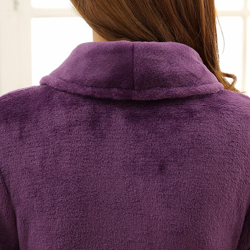 Unisex Mens Women\'s Long Polyester Sleep Lounge Robes RBS-C LYQ114 30