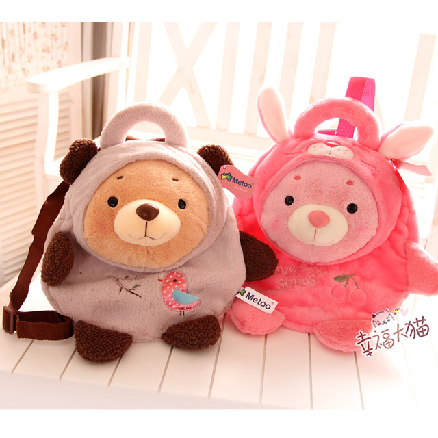 Coelho microfone metoo OK Urso de Pelúcia saco bonito do bebê bolsa de ombro satchel bag duplo Jiangsu, Zhejiang