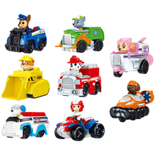 8 Pcs Paw Patrol Dogs Rescue Set Puppy Patrol Toys Cars Patrulla Canina Ryder Anime Action Figures Model Car Toy Birthday Gift