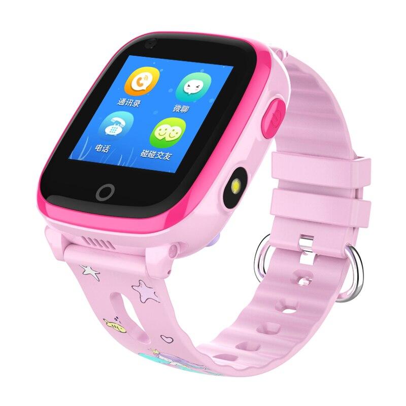 DF33 4G GPS WIFI enfants montre intelligente réel écran tactile étanche enfants montre Support carte SIM SOS appel bébé montre-bracelet