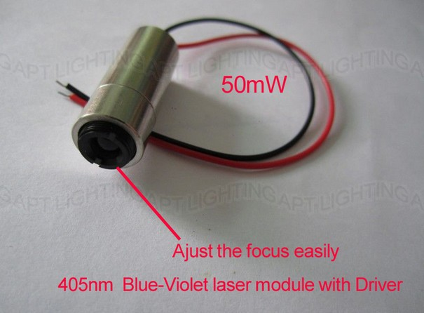 NEW 405nm 50mW Blue-Violet <font><b>blu-ray</b></font> Focus adjustable Blue Laser module lazer diode