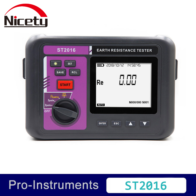 Nicety ST2016  digital earth resistance tester 4 pole soil electric resistivity meter Nicety ST2016  digital earth resistance tester 4 pole soil electric resistivity meter