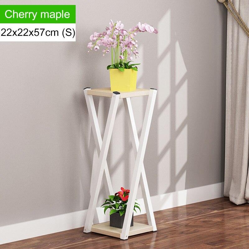 Многослойное платье с цветочным узором подставкой внутренние, из кованого железа балкон цветочный горшок стойки напольные Ящики для гостиной шкаф мебель для дома - Цвет: L168-S-white