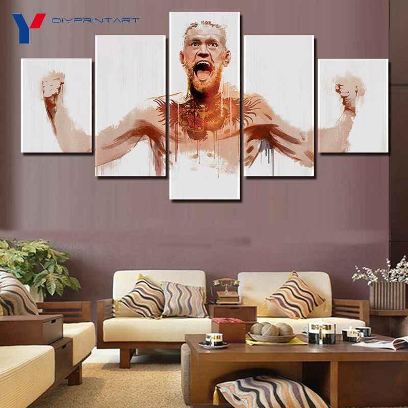 UFC Conor McGregor 5 Panel Stampa Wall Art Decorazione Domestica Immagini per Soggiorno A0989