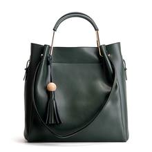 2016 женщины дамы новый натуральная кожа сумочка мода Tote сумки женщины сумка сплошной цвет сумка для женщин BH1386(China (Mainland))
