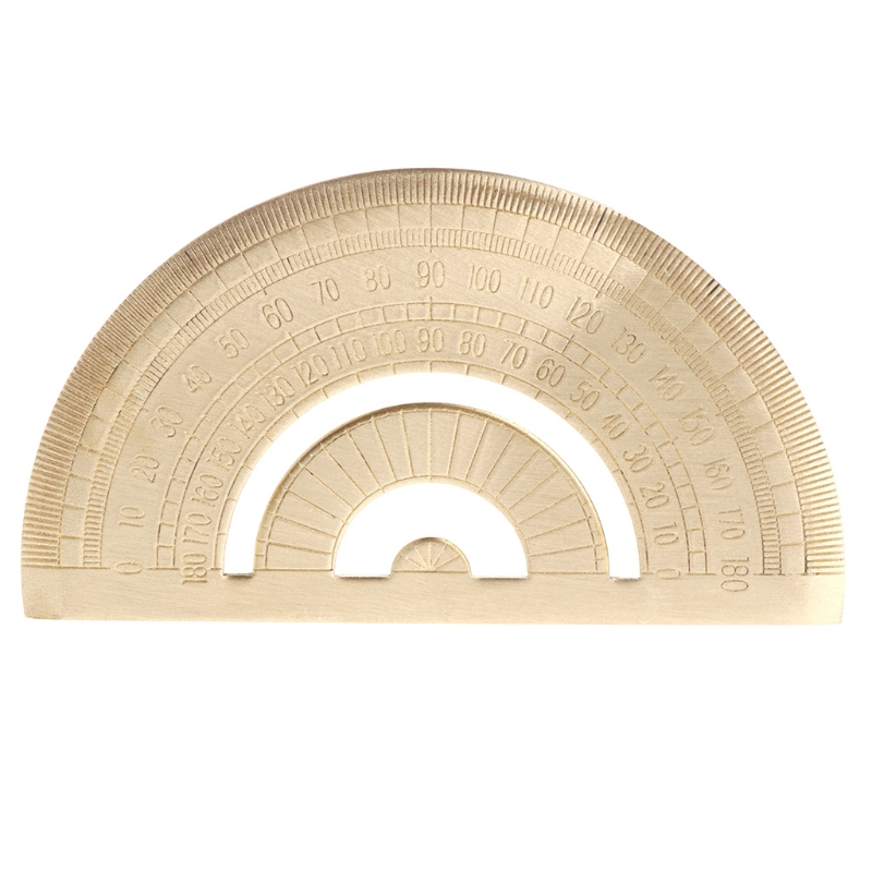 Brass Protractor Ruler Angle Measure Tool Super Durable Carpenter Clear Ruler