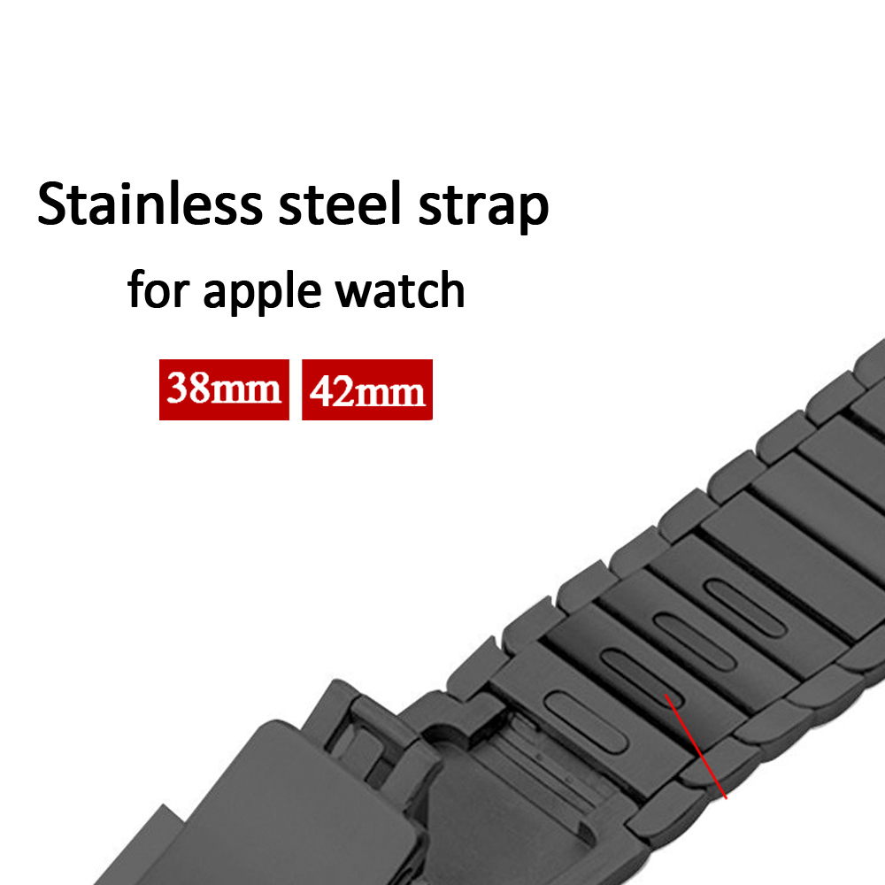 все цены на Stainless Steel strap for Apple Watch Band 42mm 38mm metal buckle original link bracelet Wrist watchband for iwatch 3 2 1