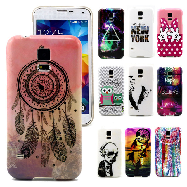 the latest 702ae da5a8 US $2.96  Phone Cases for Samsung Galaxy S5 Case Luxury Sunset/Skull/Dream  Catcher Painting Cartoon Back Cover for Galaxy S5 Accessories on ...