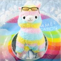 New Rainbow 35cm Alpaca Plush Toy Soft Plush Stuffed Alpacasso Cartoon Animals Toy Dolls For Kids