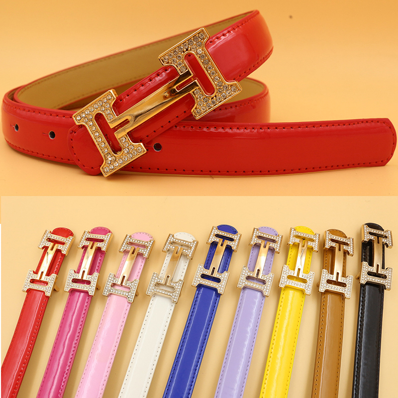 PU Leather H Letter Buckle Designer Belts For Women Adjustable Simple Solid Color Waistband For Jeans Casual Ceintures Female