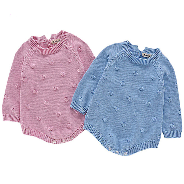 2019 Baby Girls Romper Fashion Brand Knitted Rompers Crochet Baby