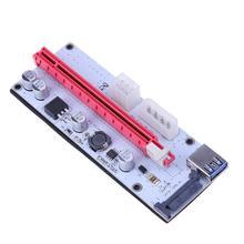 Molex 6pin интерфейс pci-e PCI-Express 1x к 16X Графический Extender адаптер карты PCIe Riser Card для добычи Bitcoin (без USB-кабели)