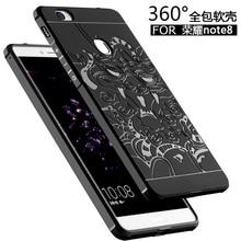 Для Huawei Honor 8 Крышка Случая Для Huawei Honor Note8 Назад Охватывает Случаи Телефона антидетонационных Броня Кремния Защиты Принципиально
