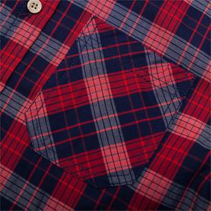 Image 4 - Fredd Marshall 2019 New Fashion Plaid Shirt Men Casual Long Sleeve Slim Fit Shirts With Pocket 100% Cotton High Quality 198