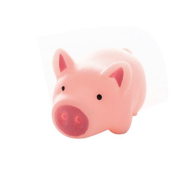 1 pz New Sveglio 5 cm Giocattoli Del Cane Rosa di Gomma di Grido Pig Giocattoli Da Compagnia Squeak Squeaker Chew Regalo Decorazioni Per La Casa trasporto Libero