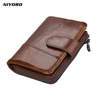 0bac461c1a05f 100 Genuine Leather Men Wallets Short Wallet Fashion Famous Brand Purse  Card Holder Wallet Man Thin