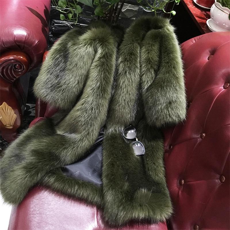 2017 hiver haute mode fausse fourrure manteau veste chaude coton plus imitation fourrure veste