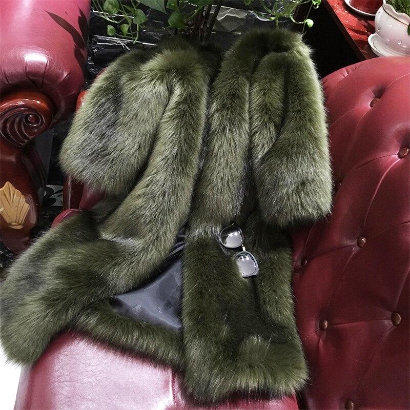 2017 inverno alta moda cappotto di pelliccia finta giacca caldo cotone più imitazione giacca di pelliccia