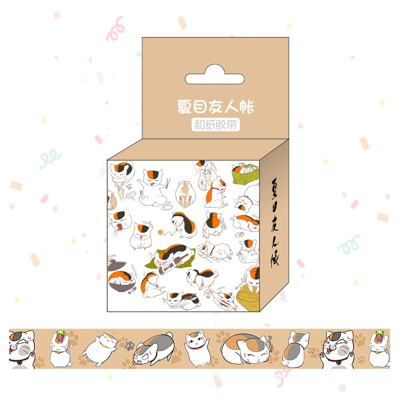 1.5cm*5m Anime Natsume Yuujinchou Cartoon Washi Tape Adhesive Tape DIY Scrapbooking Sticker Label Masking Tape