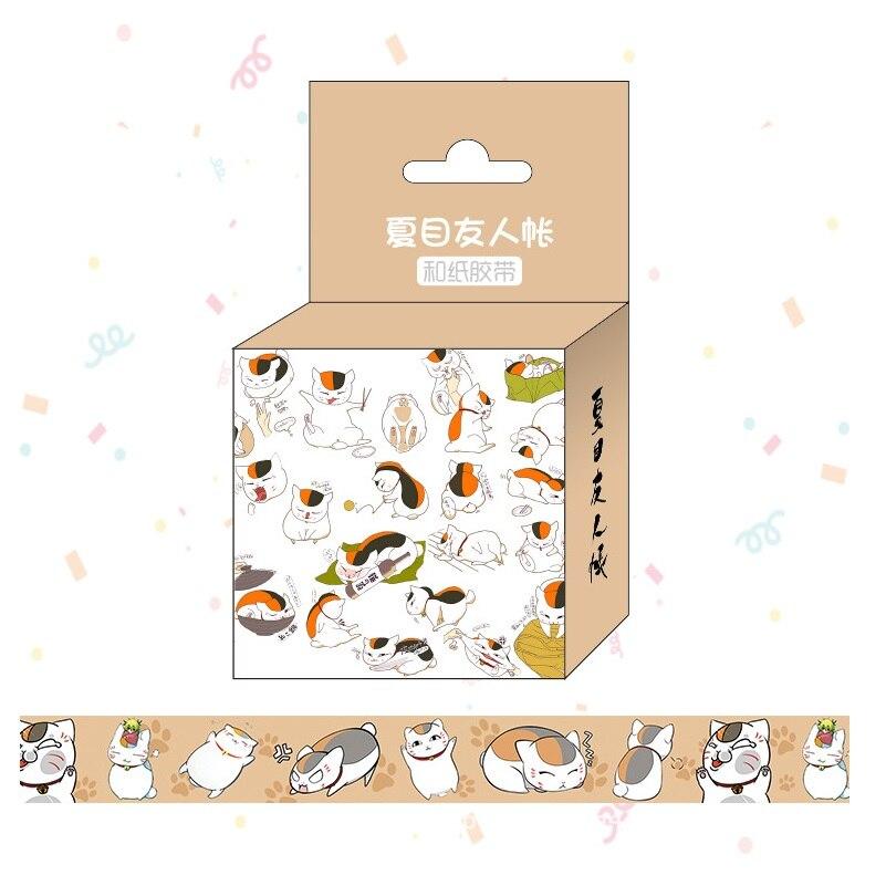 1.5cm*5m Anime Natsume Yuujinchou Cartoon Washi Tape Adhesive Tape DIY Scrapbooking Sticker Label Masking Tape