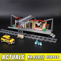Bei Fen 456pcs Lepin 02015 City Trains Train Station With Rail Track Taxi Model Building Blocks