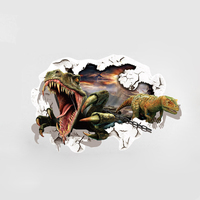 Design Dinosaur 3D Wall Stickers For Kids Rooms Home Decor Living Room Bedroom Creative Art Decals