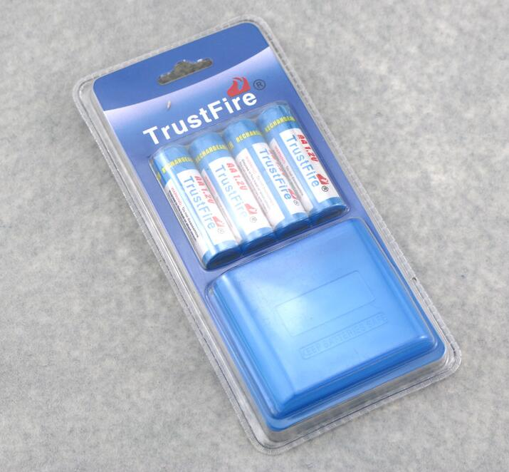 12pcs/lot Trustfire AA 2700mAh NI-MH 1.2V Rechargeable Battery For Toys MP3 Camera With Package Case Size 5 Batteries